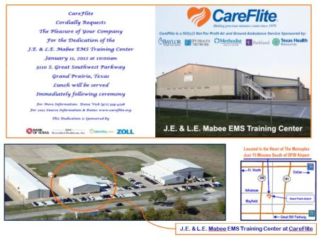 Help Careflite Celebrate New Facility 1/11
