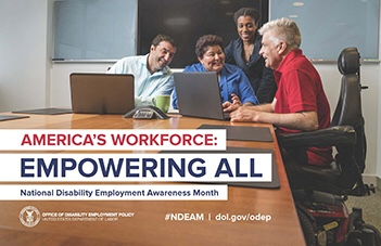 Free Poster for Upcoming October National Disability Employment Awareness Month 2018  Available