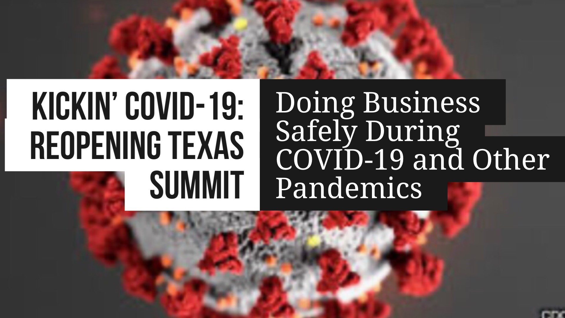 Kickin' COVID-19: Reopening Texas Summit October 8 On Facebook Live